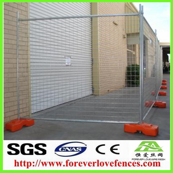 welded mesh panel with concrete base temporary fence - Forever Love