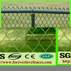 Garden Use PVC Coated Galvanized Green Vinyl Coated Chain Link Fence