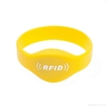 Factory best price 13.56Mhz MIFARE Classic 1K/ 4K silicon smart rfid wristband 1