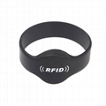 Factory best price 13.56Mhz MIFARE Classic 1K/ 4K silicon smart rfid wristband 3