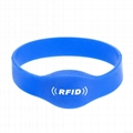 Factory best price 13.56Mhz MIFARE Classic 1K/ 4K silicon smart rfid wristband 4