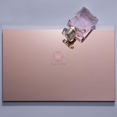 Stainless steel mirror rose gold