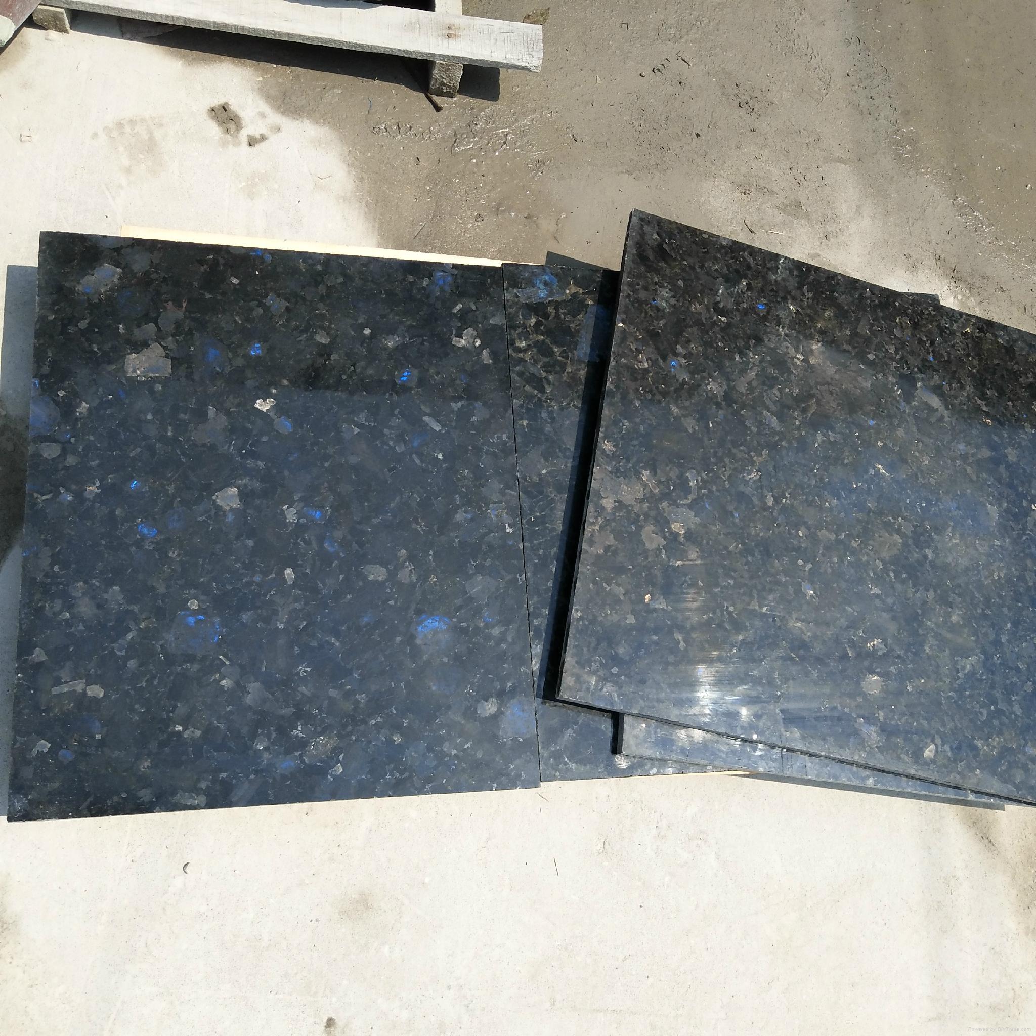 Volga Blue Dark Granite Tiles And Slabs Ukraine Polished Granite
