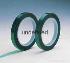 供應君宇3565綠色耐高溫聚酯膠帶