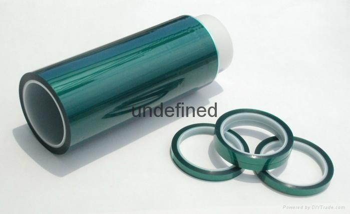 供应君宇3565绿色耐高温聚酯胶带 2