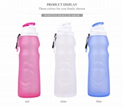 S2 Large Size Silicone Foldable Outdoor Water Bottle