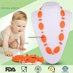 FK002 baby teething silicone Necklace