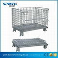 Heavy Duty Ga  anized stackable wire mesh pallet cage