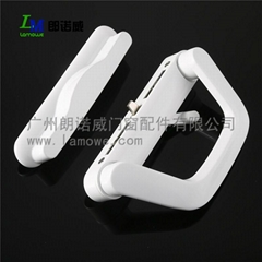 Wholesale high quality black and white aluminum door sliding handle for zinc all