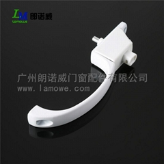 Best Practical High Quality White Aluminum Alloy Aluminum Window Handle with Key