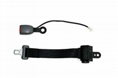 2 points seat belt with sensor buckle types
