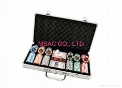 500 pcs Chip Carry Cases Poker Chip Aluminum carry boxes