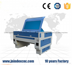 Dual heads 1610 100w laser cutting machine for wood acrylic leather