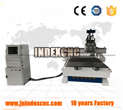 3 Axis CNC router with 3 spindles for carbinet,door