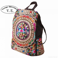 backpack custom logo made from china manufacture children school folk embroidery