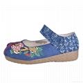 Vintage Women shoes Casual Linen Cotton Floral Embroidery Ladies Canvas Shoes