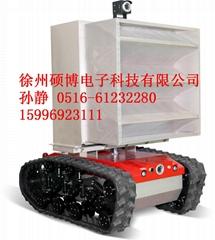 WM防爆消防高倍數泡沫滅火偵察機器人