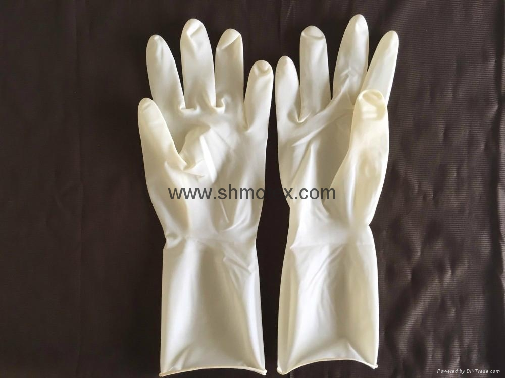 #1610 Wet Donning Disposable Steriled Powder-Free Latex Surgical Gloves 2