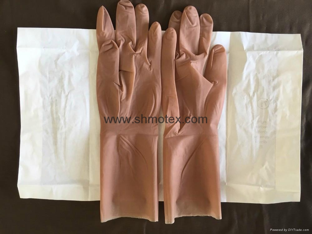 #1710 Microsurgery Thin Non-Beaded Cuff Latex Surgical Gloves 2