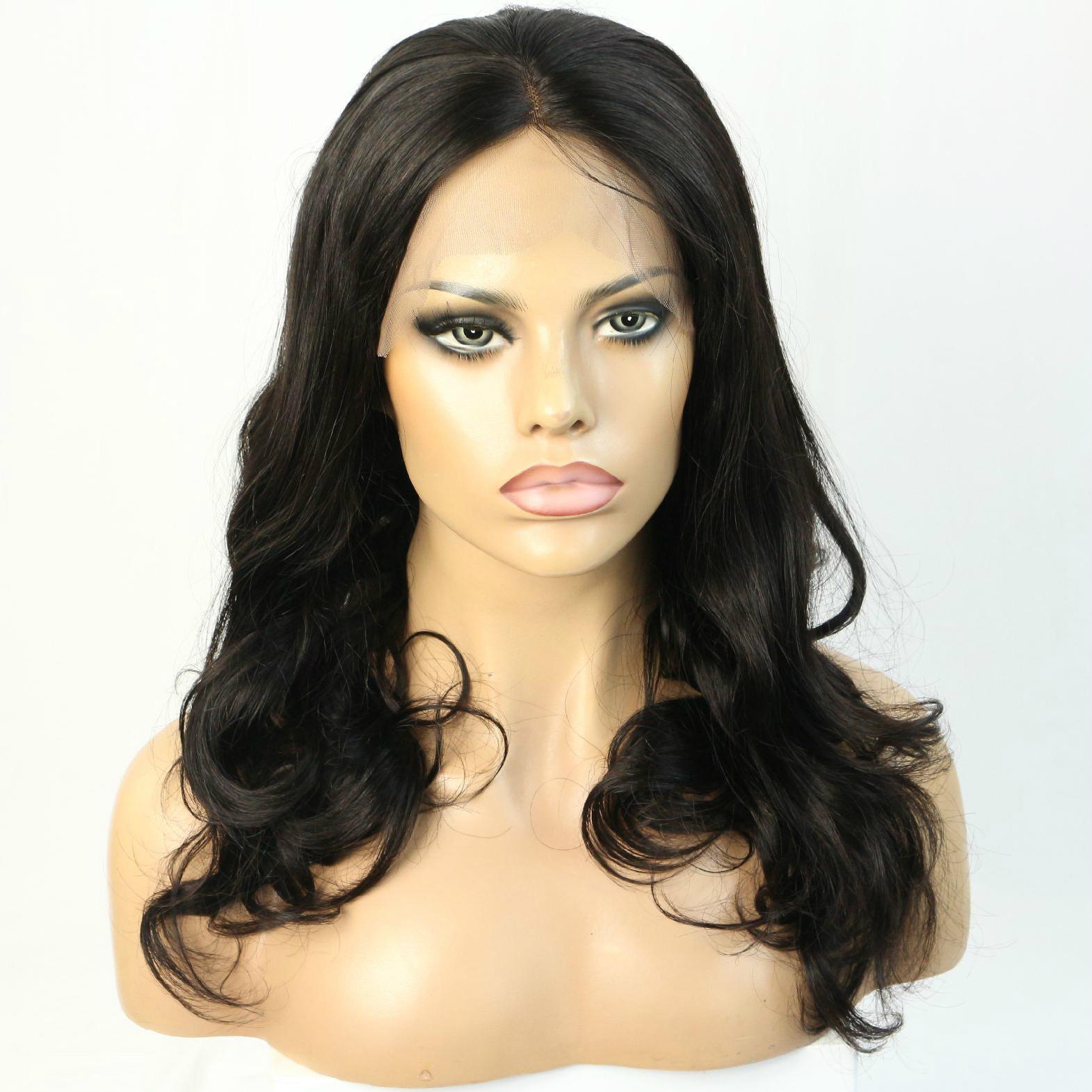 Human hair wig brazilian virgin 360 lace frontal wig 1
