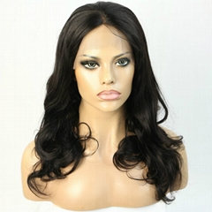 Human hair wig brazilian virgin 360 lace frontal wig