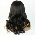 Human hair wig brazilian virgin 360 lace frontal wig 4