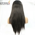 High density 180% with high ponytail human hair 360 wig 1