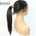 High density 180% with high ponytail human hair 360 wig 2