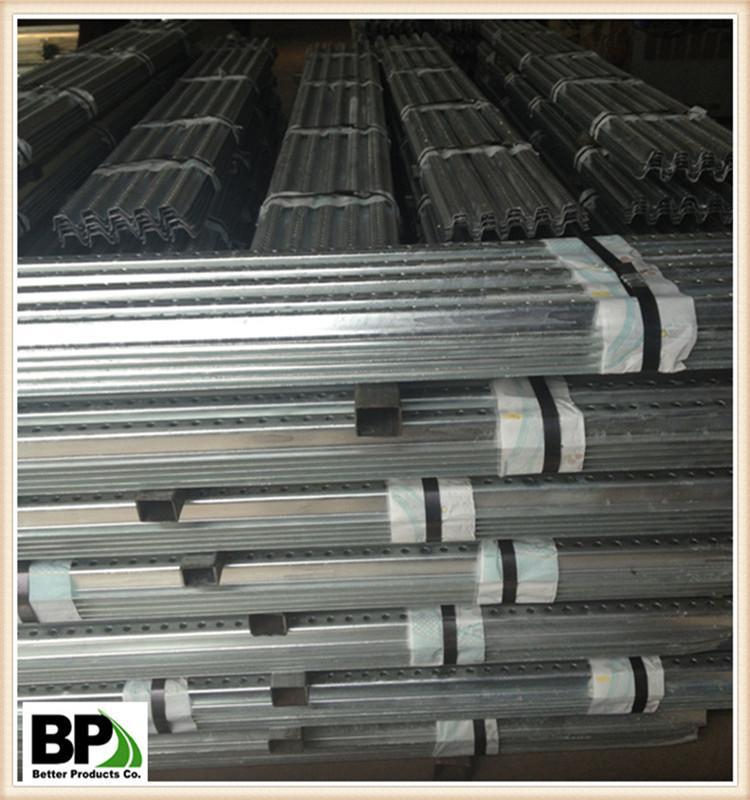 Traffic Perforated Galvanized Steel U Sign Posts 5
