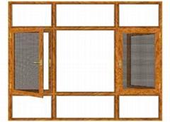 詩美居125系列管式黑金鋼平開紗扇