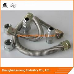 CSA flexible gas hose connector