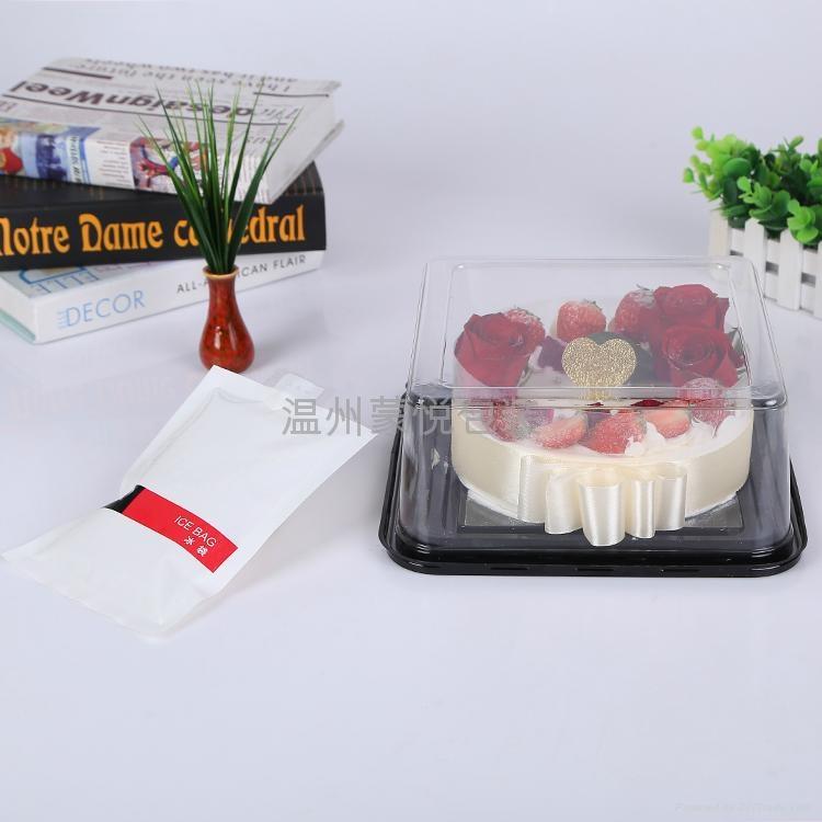 6寸方形 PET透明蛋糕盒 2