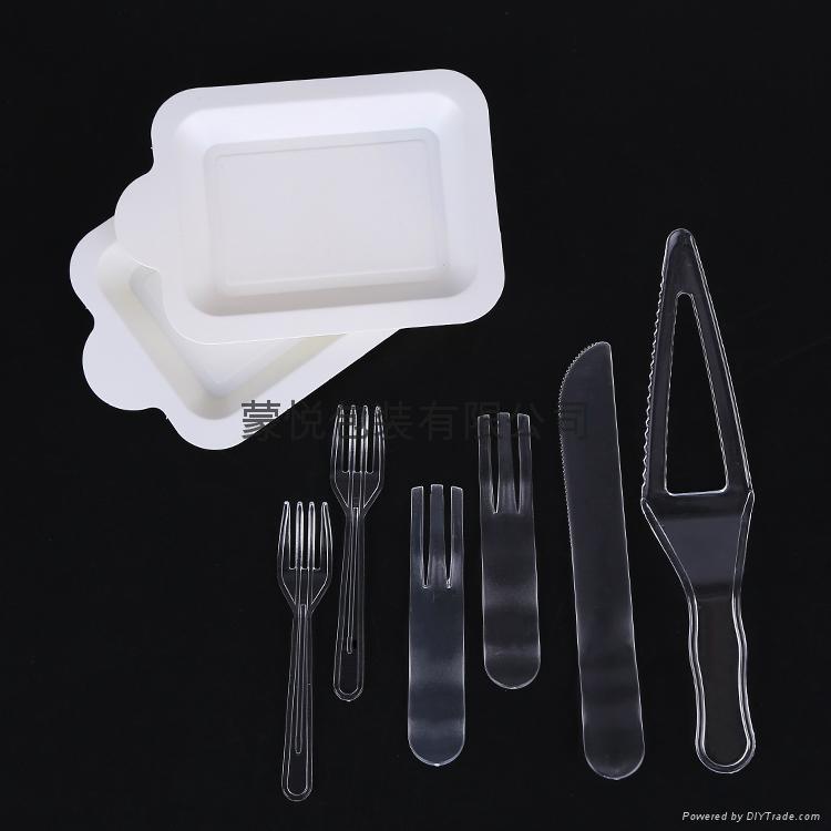 生日蛋糕塑料餐具套装  3