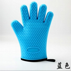 Cotton Heat-resistance Grill Mitt Silicone Glove BBQ tool