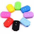 Red Blue Orange Eco-friendly Silicone Soft Cover Car Protective Key Cases 5