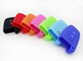 Red Blue Orange Eco-friendly Silicone Soft Cover Car Protective Key Cases 3