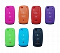 Red Blue Orange Eco-friendly Silicone Soft Cover Car Protective Key Cases 1
