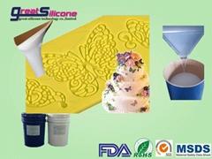 10 shore A food grade rtv-2 silicone rubber for decorative lace mold