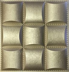 Modern house faux leather 3d decorative wall panels