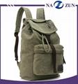 2017 OEM factory Vintage bags casual unisex custom canvas backpack wholesale in