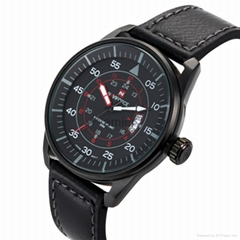 3ATM Waterproof Analog Quartz Watch for Men with time and date indication
