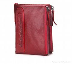Genuine Leather Women Wallets Bifold Wallet ID Card holder Coin Purse