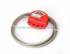 L11 1.8M Safety Red Cable Lockout , safety lockout