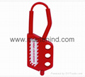 K44 Nylon box metal hasp , cabinet hasp lock