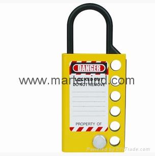 K51 yellow padlock hasp ,plastic box with hasp lock