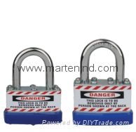 J41 J42 J43 Safety JACKET laminated combination padlock