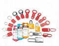 Safety lockout , safety cap lamps