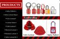 K44 Nylon box metal hasp , cabinet hasp lock