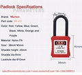 K46 Nylon loto safety lockout hasp