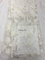 lace fabric for fashion show with stone beaded sequins